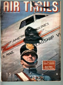 AIR TRAILS PULP 11/1938-AVIATION-ROSCOE TURNER-MODELS-STREET AND SMITH FR