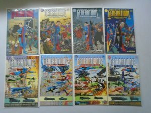 Superman and Batman Generations 2 Sets 8 Different Books (1999-2001)