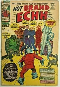 NOT BRAND ECHH#1 GD/VG 1967 MARVEL SILVER AGE  COMICS