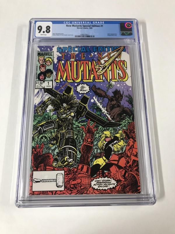 The New Mutants Special Edition 1 Cgc 9.8 White Pages