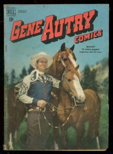 GENE AUTRY COMICS #30 1949-DELL PHOTO COVER-CHAMPION VG
