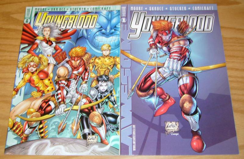 Youngblood vol. 3 #1-2 VF/NM complete series - rob liefeld variants - alan moore