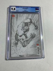 Justice League 9 Cgc 9.8 2018 Jim Lee Sketch Variant Flash Dc Comics
