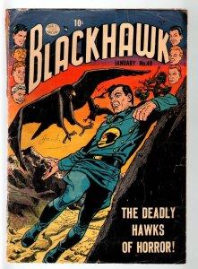 BLACKHAWK #48-REED CRANDALL ART-1952CHOP CHOP-HAWKS OF HORROR-QUALITY PUBS-G+ G+