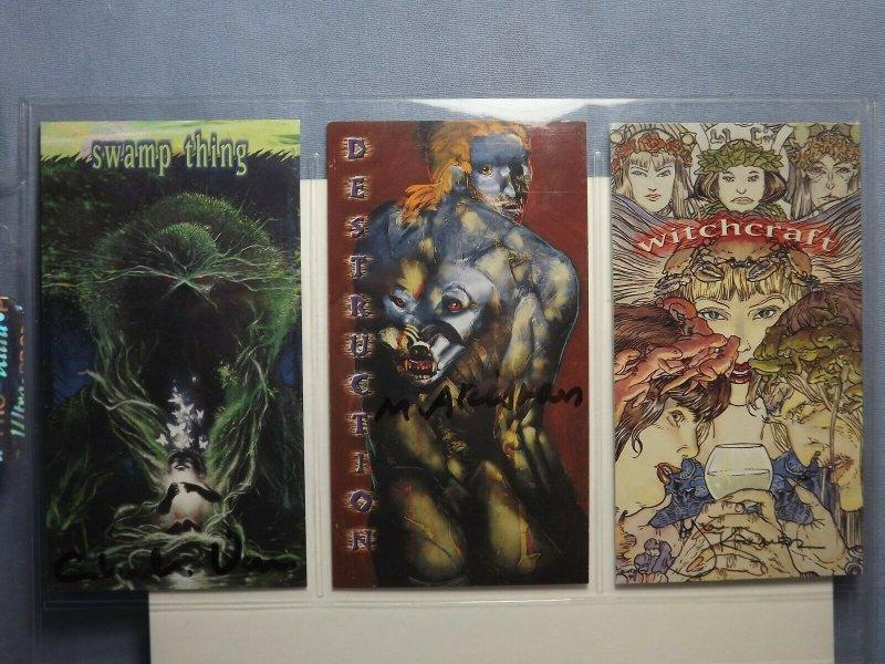 Six 1990s DC Comics VERTIGO Art Trading Cards AUTOGRAPHED CHARLES VESS & MORE!!