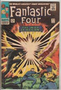 Fantastic Four #53 (Aug-66) FN/VF Mid-High-Grade Fantastic Four, Mr. Fantasti...