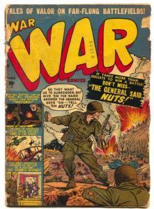 War Comics #4 1951- Atlas War- BASTOGNE G-