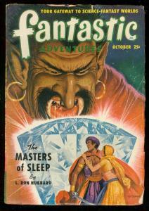 FANTASTIC ADVENTURES OCT 1950-HUBBARD-MASTERS OF SLEEP VG