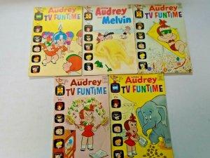 Bronze Age Harvey Little Audrey Giant Size Comic Lot 5 Different 4.0 VG