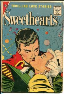 Sweethearts #37 1957-Charlton-spicy romance-10¢ cover price-G