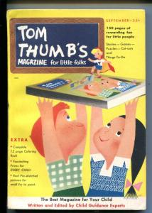 TOM THUMB'S #1-09/1953-COMICS-PUZZLES-FUNNY ANIMALS-SOUTHERN STATES-vf