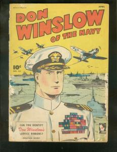 DON WINSLOW OF THE NAVY #33 1946-FAWCETT-SERVICE RIBBON FR/G