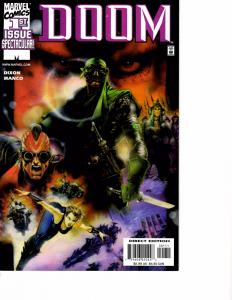 Lot Of 2 Doom Marvel Comic Book #1 3  AH4