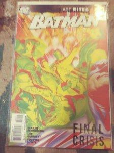 Batman #682 2009, DC FINAL CRISIS GRANT MORRISON ALEX ROSS LAST RITES
