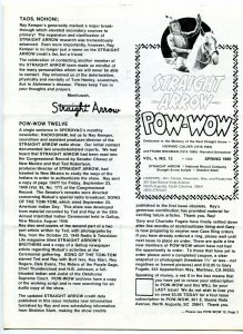 Straight Arrow Pow-Wow Vol. #4 #12 1989- Western fanzine newsletter