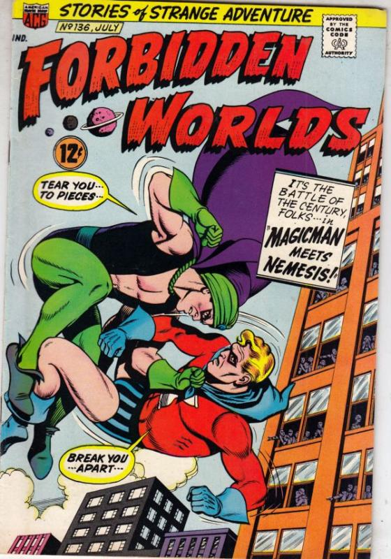 Forbidden Worlds #136 (Jul-66) NM- Mid-High-Grade Magicman, Nemisis