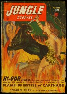 Jungle Stories Pulp Winter 1950- Seabury Quinn- Fiction House- Ki-Gor G