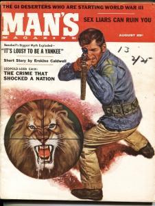 Man's 8/1957-Cheesecake-New York Yankees-Leopold Loeb