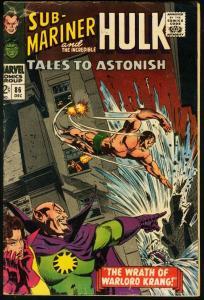 TALES TO ASTONISH #86-HULK/SUB-MARINER-1966 VG