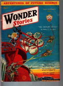 Wonder Stories Pulp Apr 1932-Sci-Fi-Frank Paul-Sci Fi VG