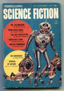 Thrilling Science Fiction December 1971- Spiders of Saturn