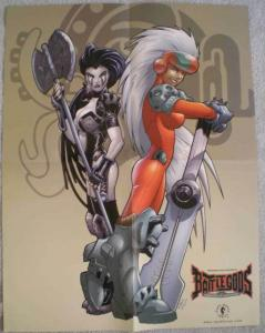 BATTLE GODS, Promo poster, 17x22, 2000, Unused, more Promos in store