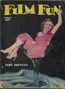 Film Fun 3/1939 -Shirley Ross photo cover-movie stars-showgirls-parody-G/VG