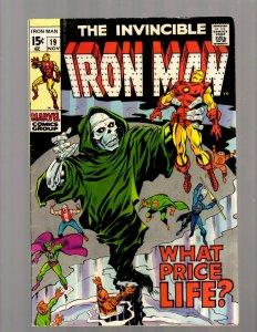 Invincible Iron Man # 19 FN/VF Marvel Comic Book Avengers Hulk Thor Captain JK7