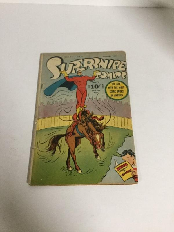 Supersnipe Comics Col 3 No 8 Gd/Vg Good/Very Good 3.0 1947