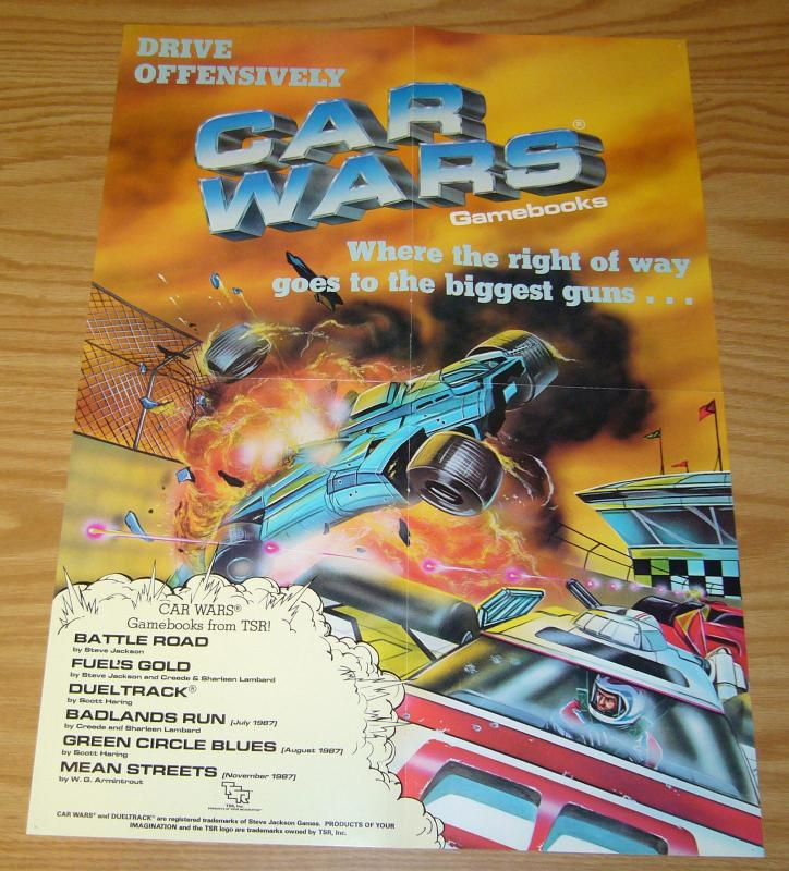 Car Wars Gamebooks Poster - 21 x 15 TSR steve jackson games 1987