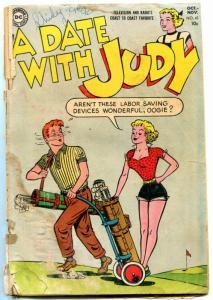 A DATE WITH JUDY #43-1954-GOLF COVER-pr/fr