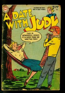 Date with Judy #45 1954- Headlights cover- DC  Humor- G