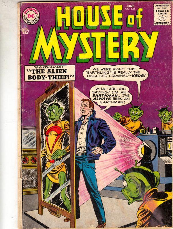 House of Mystery #135 (Jun-63) VG/FN Mid-Grade Featuring The Alien Body-Theif!