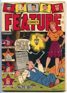 Feature Comics #75 1944- DOLL MAN- Gill Fox cover G/VG