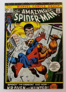 Amazing Spider-Man #111 FN/VF Marvel Bronze Age 1972: Kraven The Hunted!