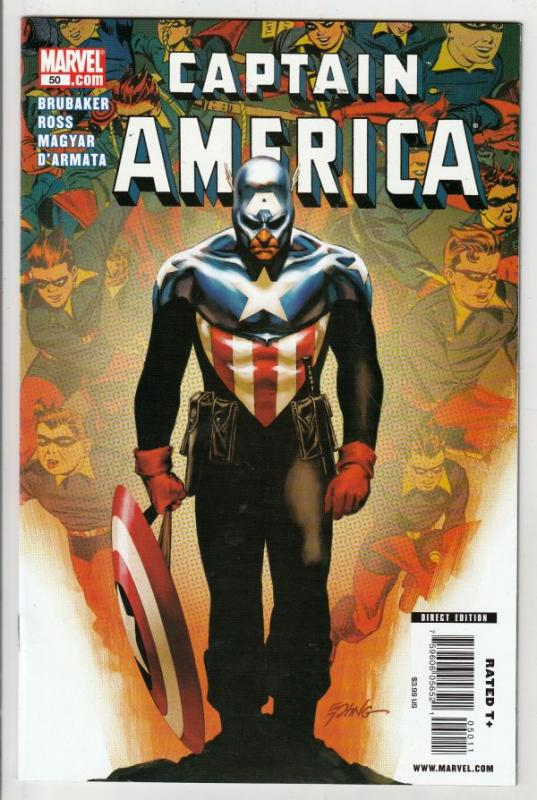 Captain America #50 (Jul-09) NM+ Super-High-Grade Captain America aka Bucky B...
