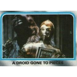 1980 Topps Star Wars The Empire Strikes Back A DROID GONE TO PIECES #216 EX/MT