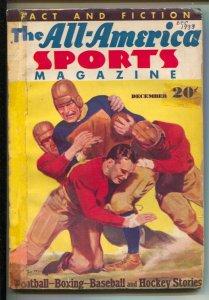 All-America Sports #1 12/1933-1st issue-Football game cover-Joe Louis bio-Bas...