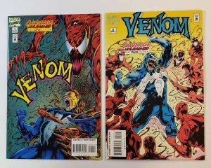 Venom: Carnage Unleashed #1-4 Complete Set Marvel Comics 1995 VF/NM Carnage