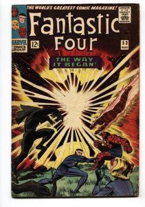 FANTASTIC FOUR #53-Black Panther origin-First Ulysses Klaw  VG+