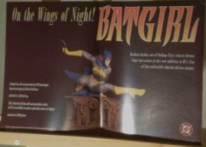 BATGIRL STATUE Promo poster, 11x17, 1997, Unused, more Promos in store