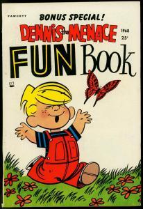 DENNIS THE MENACE FUN BOOK #5-FAWCETT PUBS.-GIANT-1968 VF