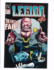 Lot of 6 LEGION '90 DC Comic Books #20 21 27 28 29 30 BH46