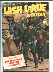 LASH LARUE #20-1951-FAWCETT-WESTERN-BLACK DIAMOND-PHOTO COVER-B-WESTERN-vg+