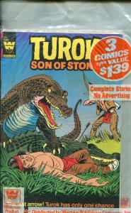 Whitman Comics 3 Pack #1 1982-Turok #130-Dagar #19-Mighty Samson #32-VF/NM