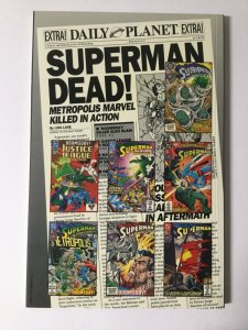 Death Of Superman Near Mint Nm Tpb Softcover Sc 10x Signed Swan Jurgens Dc Comic