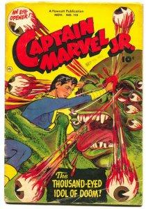 CAPTAIN MARVEL JR. #115-1952-Disgusting Eyeball cover Fawcett