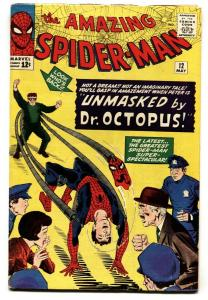 AMAZING SPIDER-MAN #12-comic book DOCTOR OCTOPUS COVER-MARVEL VG