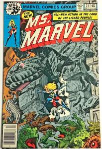 MS. MARVEL#21 FN 1978 MARVEL BRONZE AGE COMICS