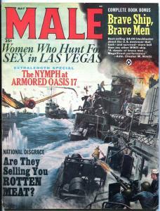 Male Magazine May 1965-LAS VEGAS VICE-WWII-CHARLES COPELAND ART VF